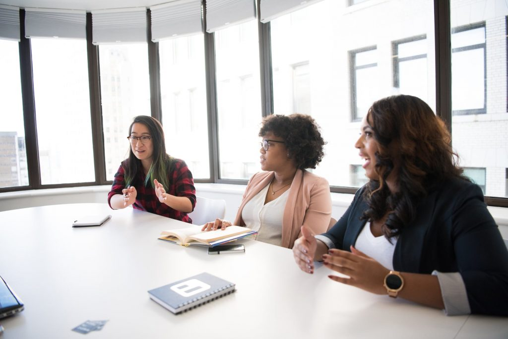 team of women in a meeting